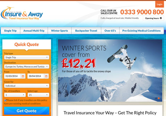 Insure and Away is a user friendly, efficient, easy to use, step-by-step Travel Insurance Booking System.