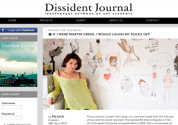 Dissident Journal is a website to show and discuss art student projects with back office for administrative tasks.