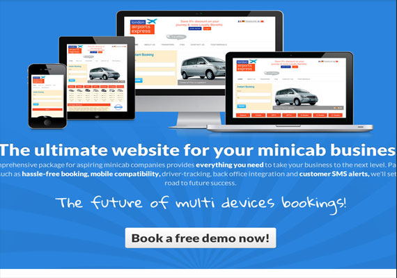 Search Engine Optimized site www.websiteforminicabs.co.uk to help market our Minicab Booking Application in development.